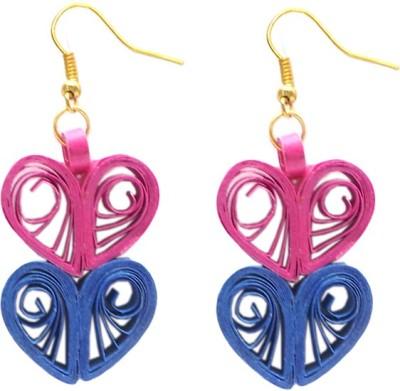 Charvee Heart Shaped Paper Dangle Earring