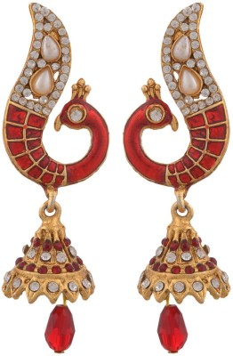 Blacksmith Divine Peacock Crystal Metal Jhumki Earring