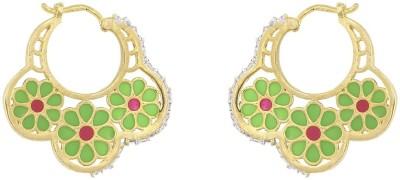 Jewlot Eye Catching Danglers And Drops A1075 Brass Huggie Earring