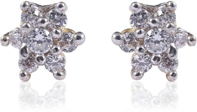 Vastradi American Diamond Brass Stud Earring
