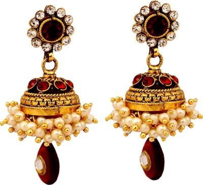 MadeinMyIndia Ethnic Charm Copper Jhumki Earring