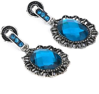 Artisan Saga Turquoise Alloy Drop Earring