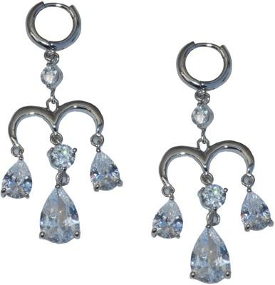 Gen 7001_3DROPS Zircon Sterling Silver Plug Earring