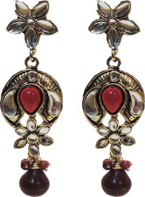 Traditsiya Kundan Designer Alloy Drop Earring