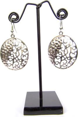 GiftPiper Engraved German Silver Turkish Earrings- Oval Shape German Silver Earring Set