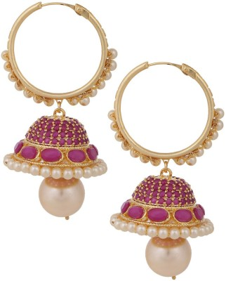 Sri Shringarr Fashion Unique Collection-7 Pearl Copper Jhumki Earring