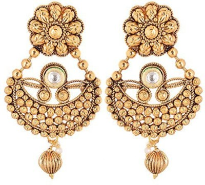 Vanshika Jewels Traditional Alloy Chandbali Earring