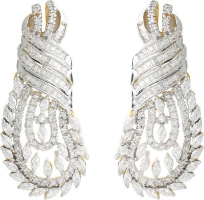 Dilan Jewels EAR000069 Zircon Silver Drop Earring