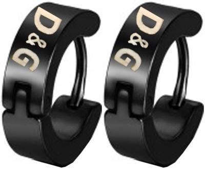 Men Style D&G Inspired Stainless Steel Hoop Earring