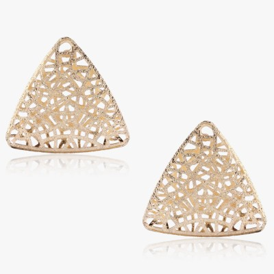 Shamoda Trendy Gold Jaali Metal Stud Earring