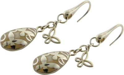 Treta Beautiful Fish Hook Sterling Silver Dangle Earring