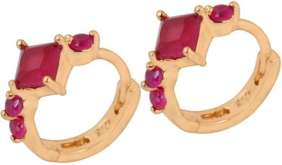 SuperShineJewelry Spring Sparkle Copper Huggie Earring