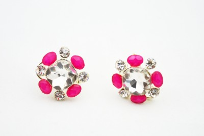 GJT PINK PEARL Crystal Crystal Stud Earring