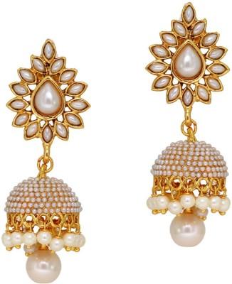 Jaipur Mart Ashiqui-2 Style Pearl Studded Alloy Jhumki Earring