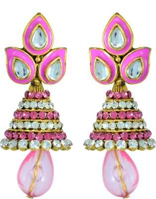 Suvini Style Diva Crystal Alloy Jhumki Earring