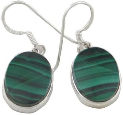 Patashi Exports Malachite Sterling Silver Drop Earring