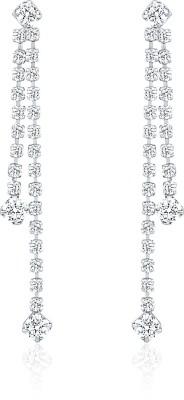 Oviya Dazzling Array Crystal Alloy, Brass Dangle Earring