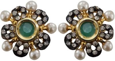 Sheetal Jewellery Cubic Zirconia Cubic Zirconia Brass, Alloy Stud Earring