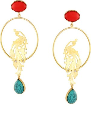 Styleos Vibrant Peacock Alloy Drop Earring