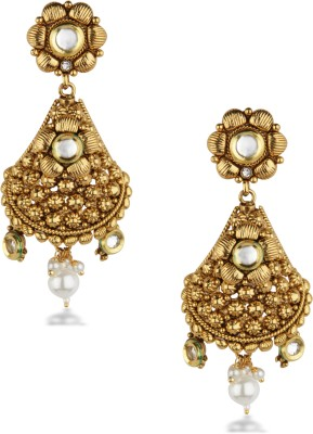 Bridesmaid Pearl Copper Drop Earring