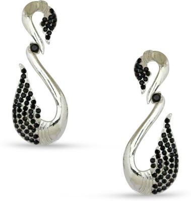 Tvesha IAER2071BLK Cubic Zirconia Alloy Drop Earring