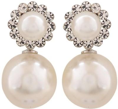 Maayra Terrific Indian Crystal Alloy Drop Earring
