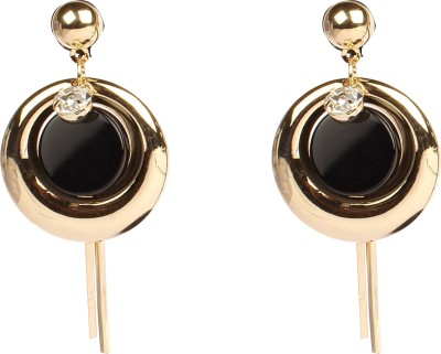 Divitha Allure Droping circle black stone pretty danglers from Divitha Aliure Alloy Drop Earring