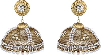 The Gallery Stunning Jhumka Zircon Alloy, Metal Jhumki Earring