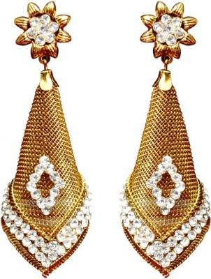 Gracent Golden Ethnic Cone Shaped Brass Hangings Brass Drop Earring