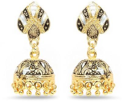 Johareez Beautiful Cubic Zirconia Brass Jhumki Earring