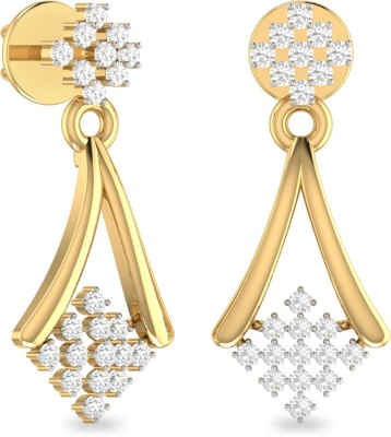 WearYourShine by PC Jewellers The Zosima Yellow Gold 18kt Diamond Drop Earring at flipkart