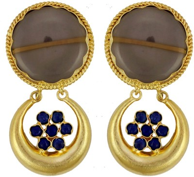 Gehnamart Marvellous Brown Quartz Alloy Drop Earring