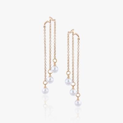 Shamoda Fashionable Golden Chain Metal Dangle Earring