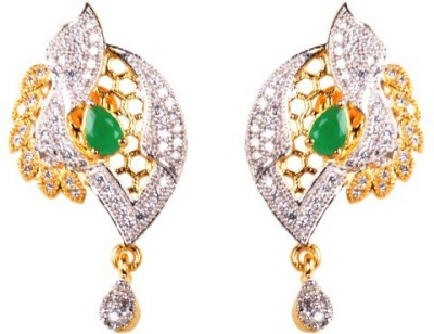 Dipshi Fancy Style A D Stone & Traditional Gold Plated Artificial For Copper Drop Earring