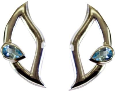 Riyo Admirablestar Blue Topaz Topaz Sterling Silver Dangle Earring