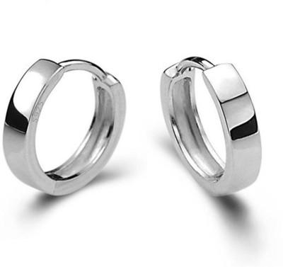 Chandrika Pearls Unisex Silver Hoop Earring