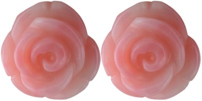 Pearl Paradise Rosa Coral Silver Stud Earring