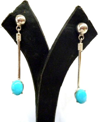 Prism Jewels Semi-Precious Jewelry Turquoise Sterling Silver Drop Earring