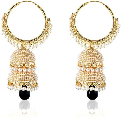 Royal Bling SEQUENCE OF PEARL TWIN Copper Jhumki Earring