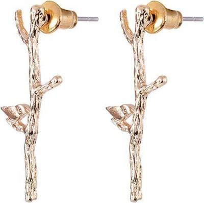 Fashnopolism Gold Branch N Bird Metal Drop Earring