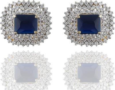 Chaahat Fashion Jewellery New Fancy Cubic Zirconia Copper Stud Earring