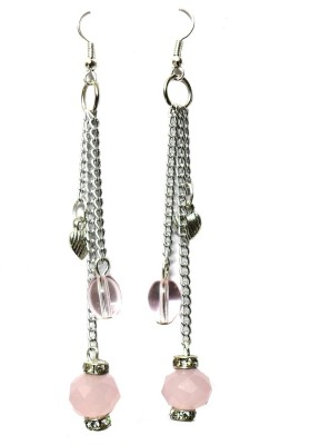 Beadworks Beaded And Charm Hanging Aluminum, Glass, Alloy Dangle Earring