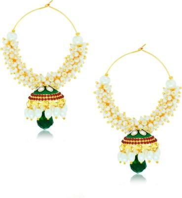Spargz Jhumki Earring Pearl Brass Jhumki Earring