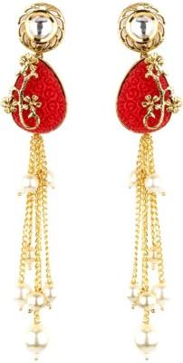 Bridesmaid Cubic Zirconia, Crystal Copper Tassel Earring