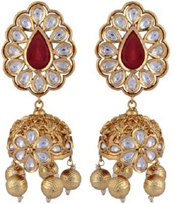 NK Jewels Jhumki Cubic Zirconia Brass Jhumki Earring