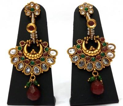 Womaniya Multicolour Mania Alloy Chandbali Earring