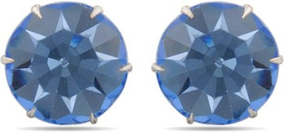 Factorywala Cool & Chic Blue Crystal Studs Alloy Stud Earring