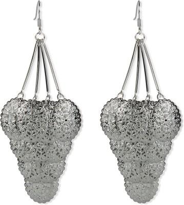 Aimez Silver Filigree Metal Dangle Earring