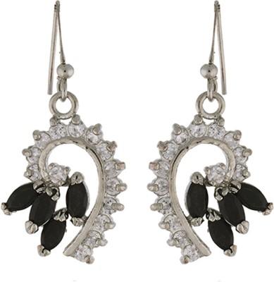 Nisa Pearls Princess Delight Cubic Zirconia Alloy Dangle Earring