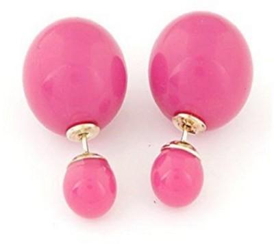Stile Double Pearl Alloy Stud Earring